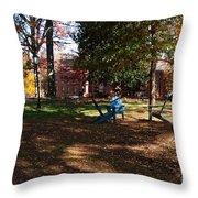 Adirondack Chairs 2 - Davidson College Throw Pillow