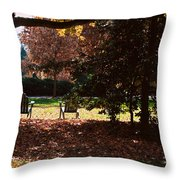 Adirondack Chairs-3 - Davidson College Throw Pillow