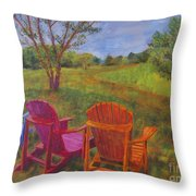 Adirondack Chairs In Leiper's Fork Throw Pillow