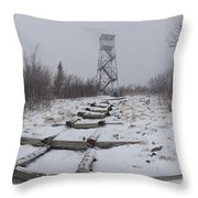 Adirondack Fire Tower 2 Throw Pillow