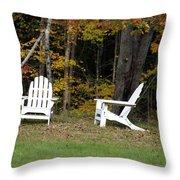 Adirondack Foliage Throw Pillow