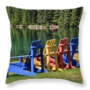 Adirondacks At Jasper Lodge Throw Pillow