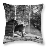 Adirondacks Cabin, C1909 Throw Pillow