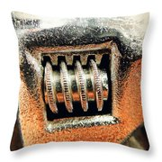 Adjustable Wrench C Throw Pillow