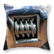 Adjustable Wrench Throw Pillow