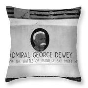 Admiral Dewey Monument Throw Pillow