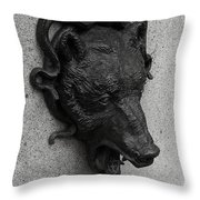Admission Monument Throw Pillow