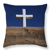 Adobe And Cross Throw Pillow