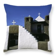 Adobe Church Taos Throw Pillow