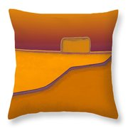 Adobe Rooftop-- Sunset Throw Pillow