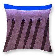 Adobe Wall Shadows Throw Pillow