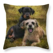 Adoption Is The Best Answer - Painting Throw Pillow