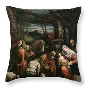 Adoration Of The Magi Throw Pillow