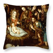 Adoration Of The Sheperds Throw Pillow