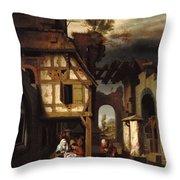 Adoration Of The Shepherds Throw Pillow