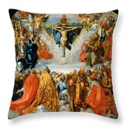 Adoration Of The Trinity  Throw Pillow