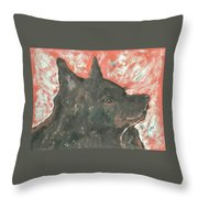 Adoring Eyes Throw Pillow