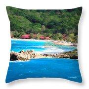 Adrenaline Beach - Cezanne II Throw Pillow