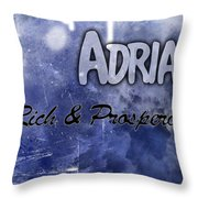 Adrian - Rich And Prosperous Throw Pillow by Christopher Gaston