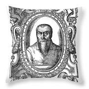 Adrian Willaert (1480-1562) Throw Pillow