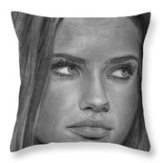 Adriana Lima 2 Throw Pillow