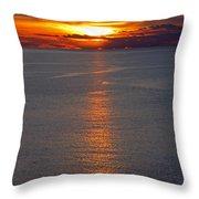Adriatic Sunset Throw Pillow