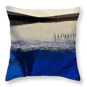 Adrift On The Deep Blue Throw Pillow