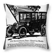 Ads Automobile, 1912 Throw Pillow