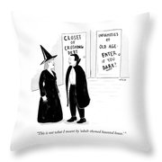 Adult-themed Haunted House Throw Pillow