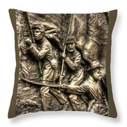 Advancing The Colors - State Of Delaware Monument Gettysburg Detail-a Autumn Mid-day Throw Pillow