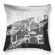 Adventure Typography Throw Pillow