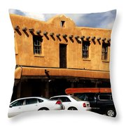 Adventures In Taos Throw Pillow by Benjamin Yeager