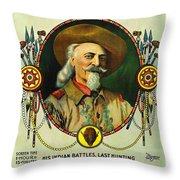 Adventures Of Buffalo Bill Throw Pillow