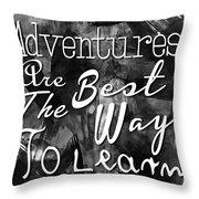 Adventures Throw Pillow