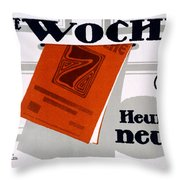 Advert For Die Woche Throw Pillow