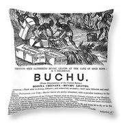 Advertisement: Buchu, 1871 Throw Pillow