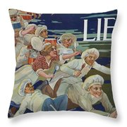 Advertisement For Extractum Carnis Liebig Throw Pillow