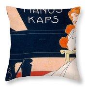 Advertisement For Kaps Pianos Throw Pillow