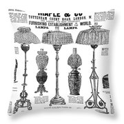Advertisement Lamps, 1890 Throw Pillow
