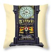 Advertising Clock Throw Pillow