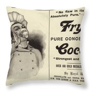 Advertising Spread From The Graphic Christmas Number 1896 Throw Pillow