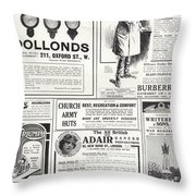Advertising Spread From The Sphere Throw Pillow