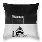 Advice Throw Pillow