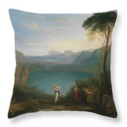 Aeneas And The Cumaean Sybil Throw Pillow