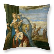 Aeneas Taking Leave Of Dido Throw Pillow