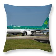 Aer Lingus Airbus A320 Throw Pillow