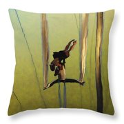 Aerial Acrobatic Artistry2  Throw Pillow by Anne Mott