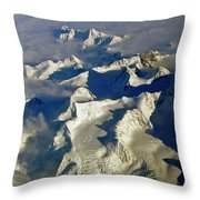 Aerial Ice Fields Throw Pillow