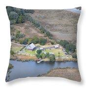 Aerial Jekyll Island Area Throw Pillow