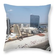 Aerial Of Downtown Atlantic City Throw Pillow